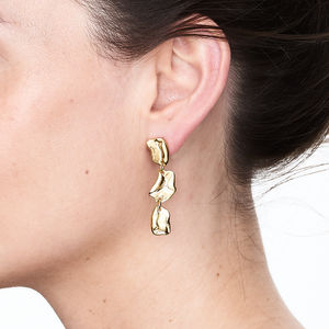 Wave Drop Stud Earrings - jewellery