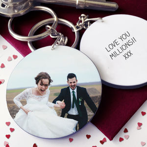 Personalised Valentine Photo Keyring - gifts for her