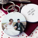 Personalised Valentine Photo Keyring