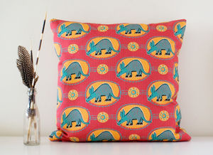 Arty Aardvark Handmade Cushion Cover - whatsnew