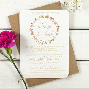 Country Floral Gem Evening Invitation - invitations