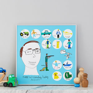 Personalised Parent Likes Print From Your Child's Art - posters & prints