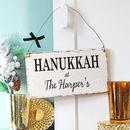 Personalised Hanukkah Sign