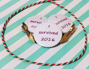 'I Survived 2016' Pin Badge Or Magnet - magnets