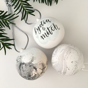 Personalised Ceramic Bauble - the christmas home edit