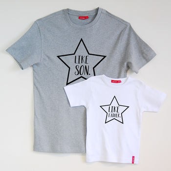 Personalised 'Like Father' 'Like Son' Tshirt Set