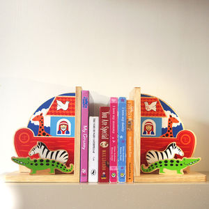 Fair Trade Noah's Ark Bookend Set