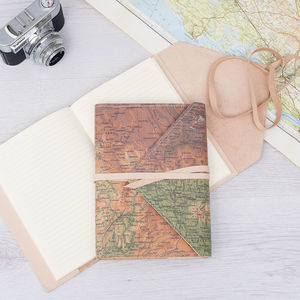 Personalised Refillable Leather Travel Journal - frequent traveller