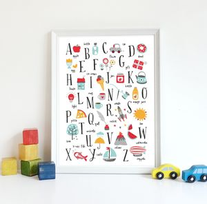 Kids Alphabet Art Print