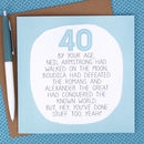By Your Age… Funny 40th Birthday Card