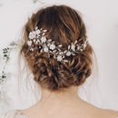 Crystal And Pearl Wedding Plait Hairvine Scarlett