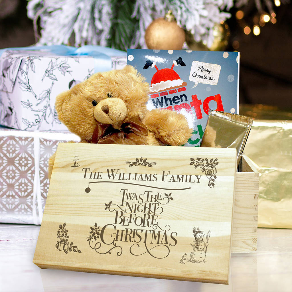 personalised twas the night before christmas eve box by jonny's ...