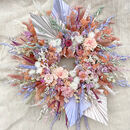 Palm Springs Pastel Dried Flower Wreath