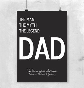 Personalised Name And Text Print For All Cool Dads