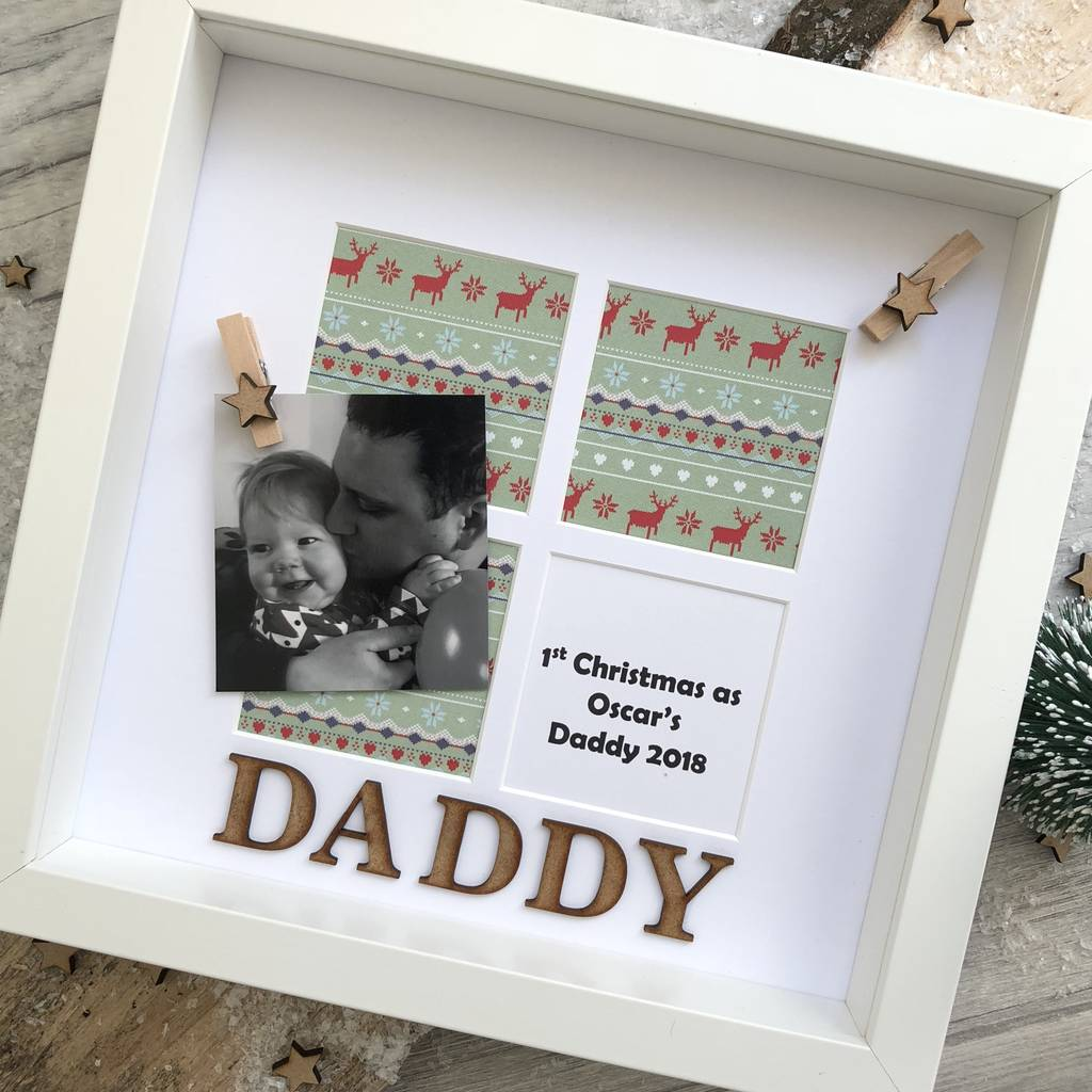 christmas personalised daddy photo frame by alphabet bespoke ...
