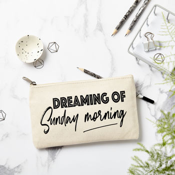 'Dreaming Of Sunday Morning' Pencil Case