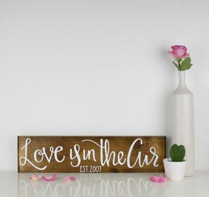 Love Is In The Air Wooden Personalised Plaque - living & decorating