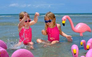 Girls Flamingo Swimsuit