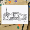 Sydney Skyline Greetings Card