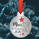 Personalised Metal First Christmas Name Bauble