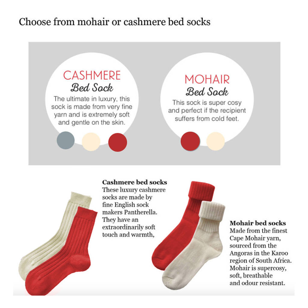 Cosy Christmas Mohair Or Cashmere Bed Socks
