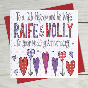 Personalised Niece Or Nephew Wedding Anniversary Card - shop by category