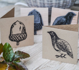Woodland Art Stamps - cards & wrap