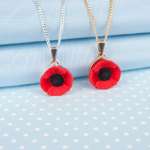 Single Poppy Pendant Necklace - necklaces & pendants