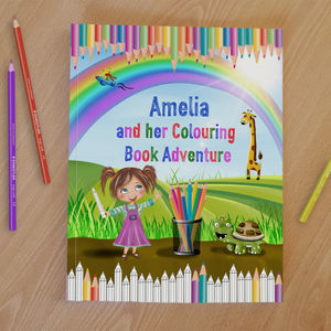 Personalised Childrens Colouring Book Adventure - whatsnew