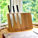 Magnetic Wooden Knife Block
