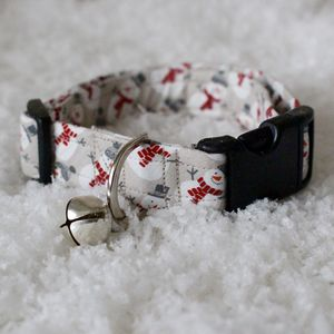 Frosty The Snowman Dog Collar - gifts for your pet
