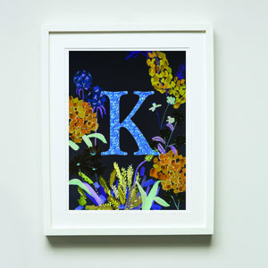 Personalised Night Garden Print - posters & prints