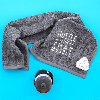 Hustle For That Muscle Gym Towel