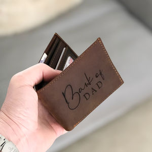 'Bank of Dad' Leather Wallet