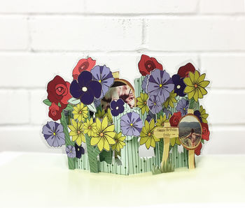 Personalised Pop Up Photo Flower Card