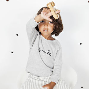 'Smile' Sweatshirt - jumpers & cardigans