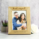 Personalised Engagement Solid Oak Photo Frame
