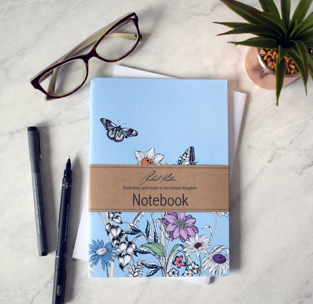 Floral Butterfly Notebook