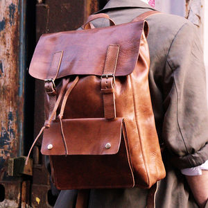 Charlie Leather Backpack - backpacks