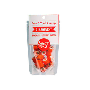 Strawberry Hard Rock Candy In A Bag