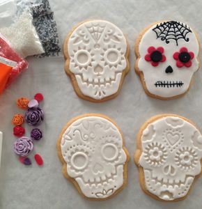 Day Of The Dead Halloween Biscuit Decorating Gift - cakes & sweet treats