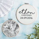 Personalised Christening Wall Art