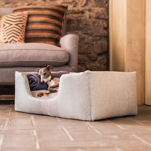 Charley Chau Deep Sided Dog Bed In Weave Fabric - beds & baskets