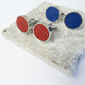 Fire Hose Cufflinks