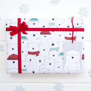 Christmas Polar Bear Wrapping Paper - christmas wrapping paper