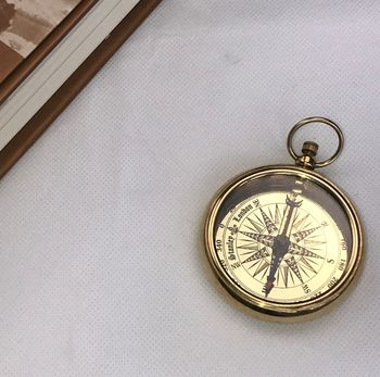 Portable Functional Open Face Brass Compass