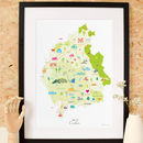Personalised Map For Dad: Add His Favourite Places