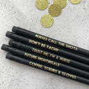 Funny Nurse Pencil Set: Nurses Call The Shots