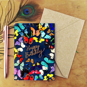 Happy Birthday Butterfly Greetings Card
