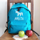 Personalised Unicorn Rucksack All Colours
